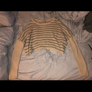• urban outfitters striped cropped sweater